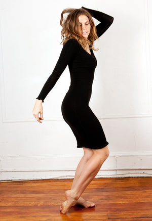 Knee High Sweater Dress KD dance New York Office Wear To Cocktail Party Dress Made In USA @KDdanceNewYork #MadeInUSA - 5