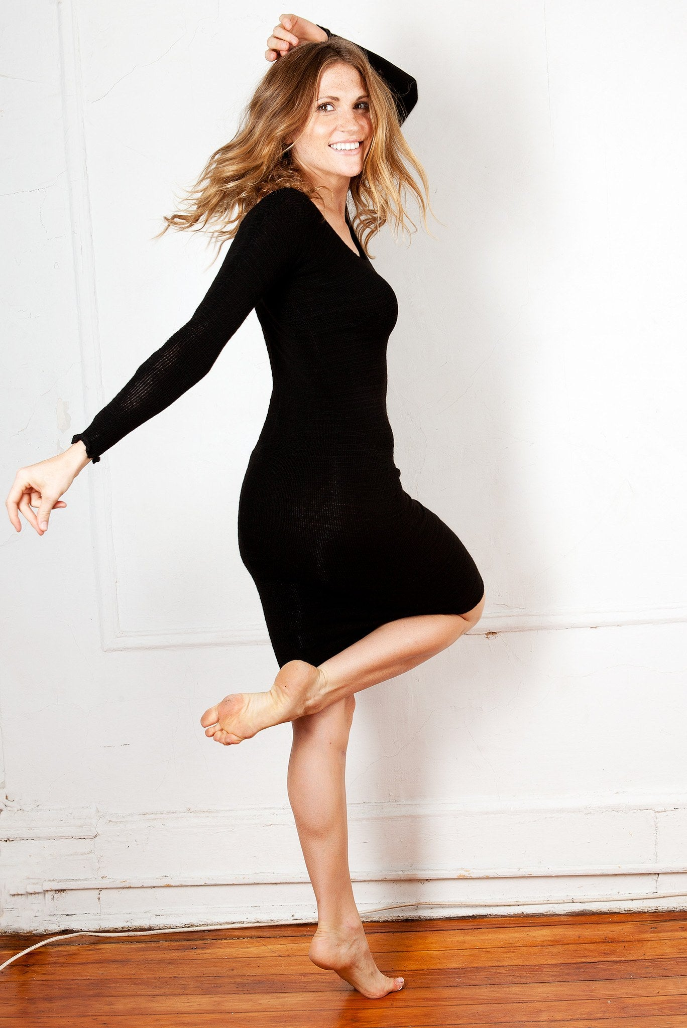 Knee High Sweater Dress KD dance New York Office Wear To Cocktail Party Dress Made In USA @KDdanceNewYork #MadeInUSA - 4