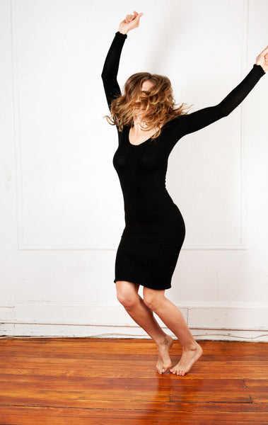 Knee High Sweater Dress KD dance New York Office Wear To Cocktail Party Dress Made In USA @KDdanceNewYork #MadeInUSA - 7