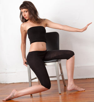 Capri Stretch Knit Low Rise Tights Leggings Peddle Pusher Yoga & Dance High Quality Made In USA @KDdanceNewYork #MadeInUSA - 7