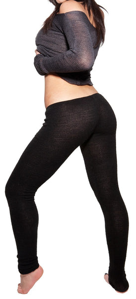 Yoga Tights / Dance Leggings / Unique Low Rise Knit Dancewear @KDdanceNewYork #MadeInUSA - 3