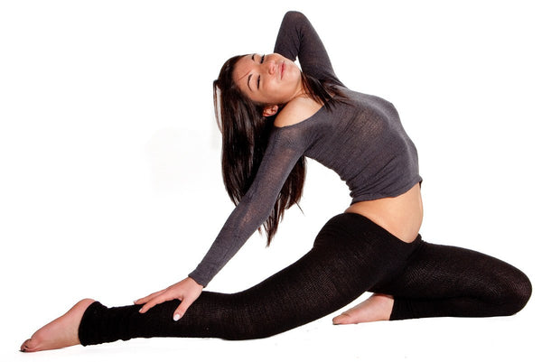Yoga Tights / Dance Leggings / Unique Low Rise Knit Dancewear @KDdanceNewYork #MadeInUSA - 6