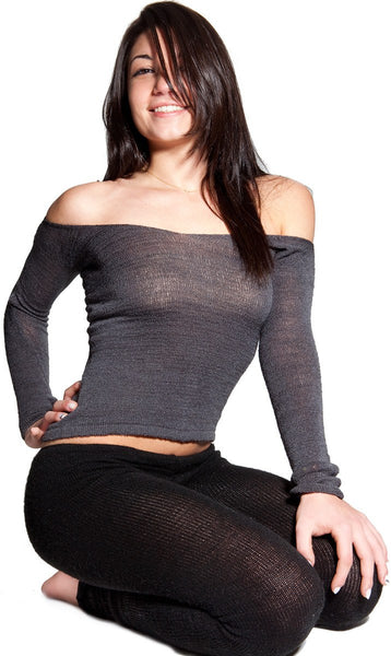 Yoga Tights / Dance Leggings / Unique Low Rise Knit Dancewear @KDdanceNewYork #MadeInUSA - 4