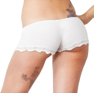 Bikini Short Shorts / Stretch Knit / Lace Trim @KDdanceNewYork #MadeInUSA - 3