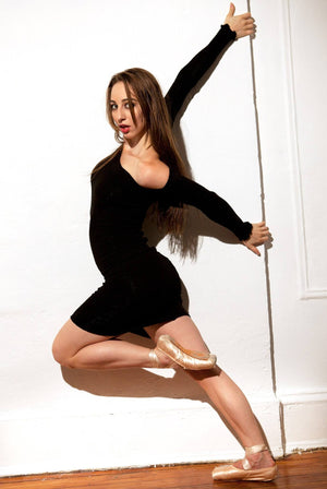 Dancewear Dress / Ballet Warm-Up Dress / Off Shoulder Sexy Sweater Dress @KDdanceNewYork #MadeInUSA - 2