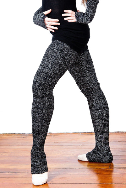 Super Long 40 Inch Thigh High Leg Warmers Stretch Knit Ribbed by KD dance Made In USA @KDdanceNewYork #MadeInUSA - 3