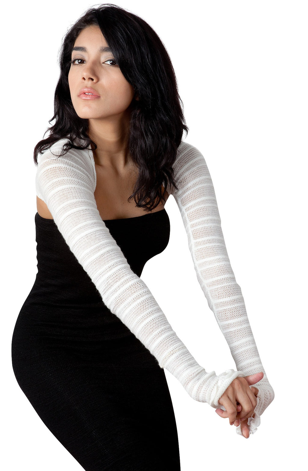 Shrug Sexy Shadow Stripe Skinny Shrug Stretch Knit KD Dance New York Made In USA @KDdanceNewYork #MadeInUSA - 1
