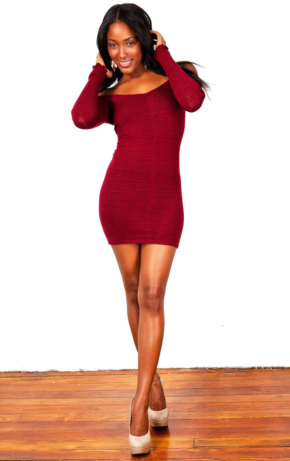 Sexy Sweater Mini Dress KD dance New York Stretch Knit Cozy Warm & Durable High Quality Made In USA @KDdanceNewYork #MadeInUSA - 3