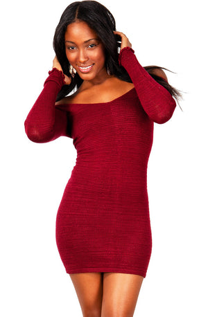 Sexy Sweater Mini Dress KD dance New York Stretch Knit Cozy Warm & Durable High Quality Made In USA @KDdanceNewYork #MadeInUSA - 7