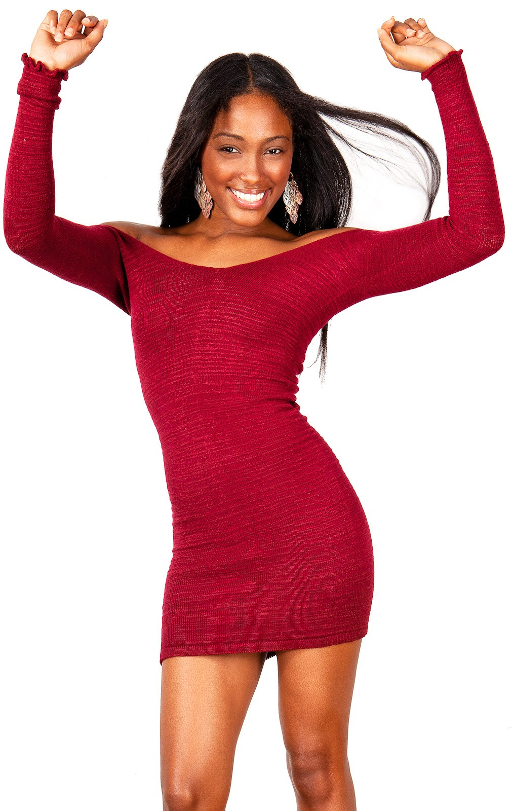 Sexy Sweater Mini Dress KD dance New York Stretch Knit Cozy Warm & Durable High Quality Made In USA @KDdanceNewYork #MadeInUSA - 5