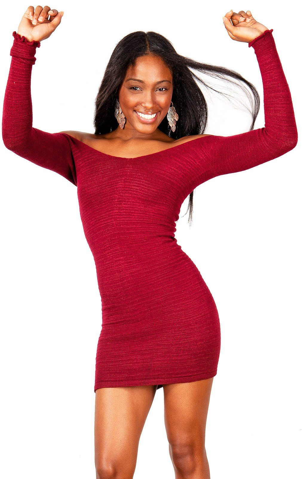 Off The Shoulder Mini Dress / Sexy Sweater Dress @KDdanceNewYork #MadeInUSA - 7