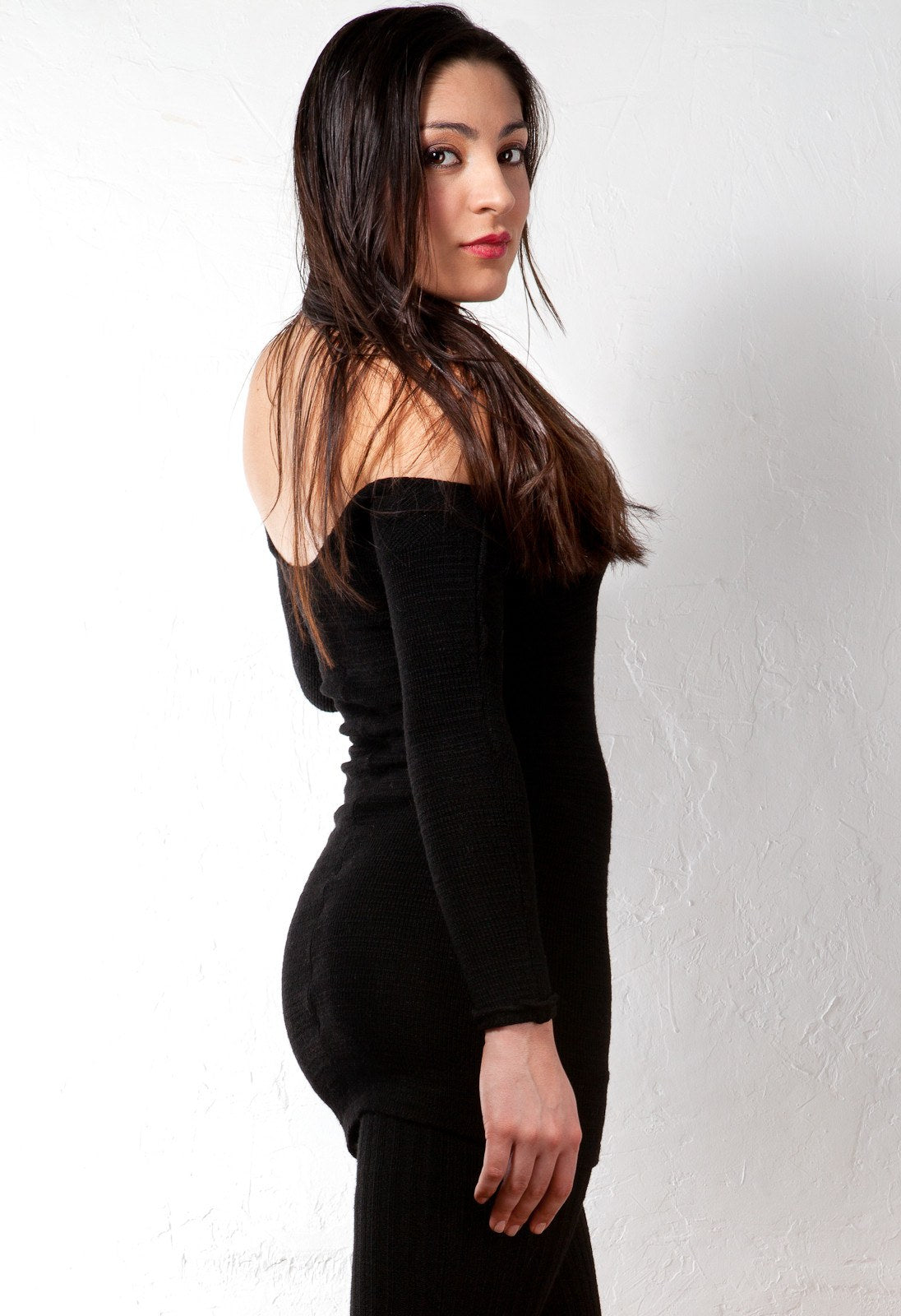 Sexy Little Black Stretch Knit Dress & 28 Inch Thigh High Leg Warmers KD dance Made In USA @KDdanceNewYork #MadeInUSA - 2