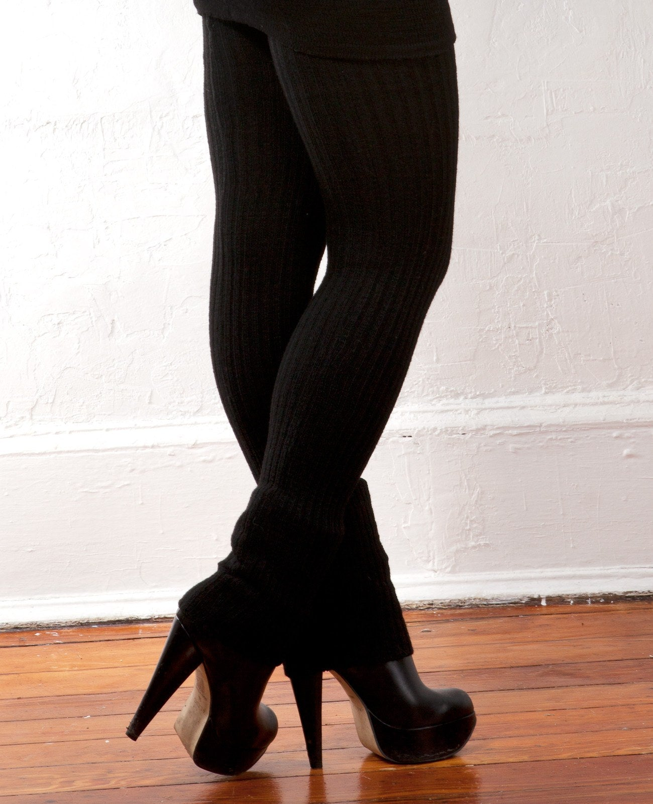 Sexy Little Black Stretch Knit Dress & 28 Inch Thigh High Leg Warmers KD dance Made In USA @KDdanceNewYork #MadeInUSA - 5