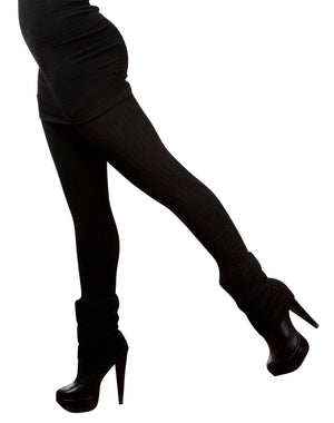 Sexy Little Black Stretch Knit Dress & 28 Inch Thigh High Leg Warmers KD dance Made In USA @KDdanceNewYork #MadeInUSA - 6