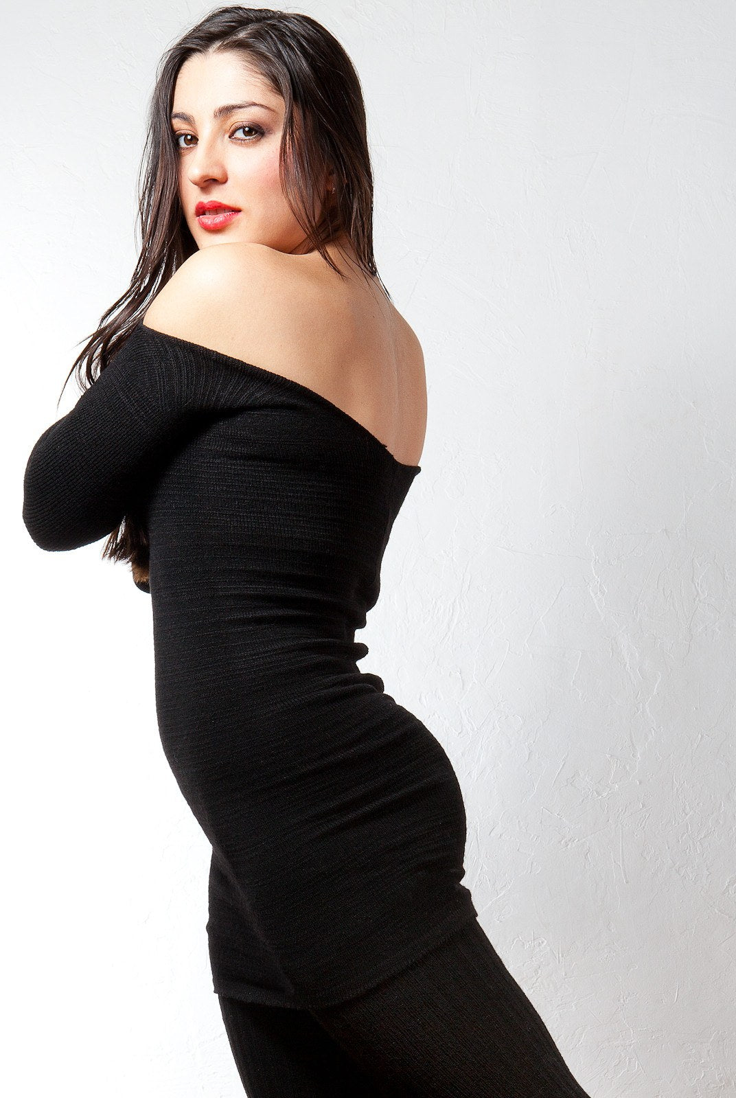 Sexy Little Black Stretch Knit Dress & 28 Inch Thigh High Leg Warmers KD dance Made In USA @KDdanceNewYork #MadeInUSA - 4