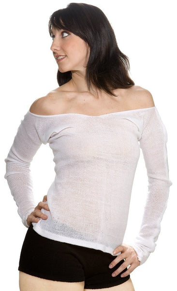 New York Black / Medium Loose Knit Off The Shoulder Sexy Ballet Sweater by KD dance New York @KDdanceNewYork #MadeInUSA - 1