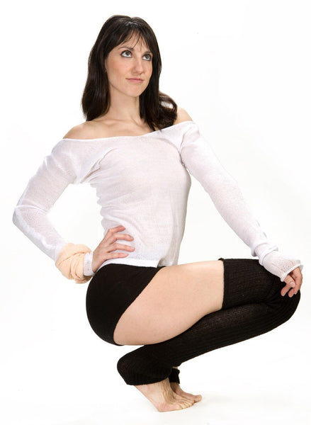 Loose Knit Off The Shoulder Sexy Ballet Sweater by KD dance New York @KDdanceNewYork #MadeInUSA - 2
