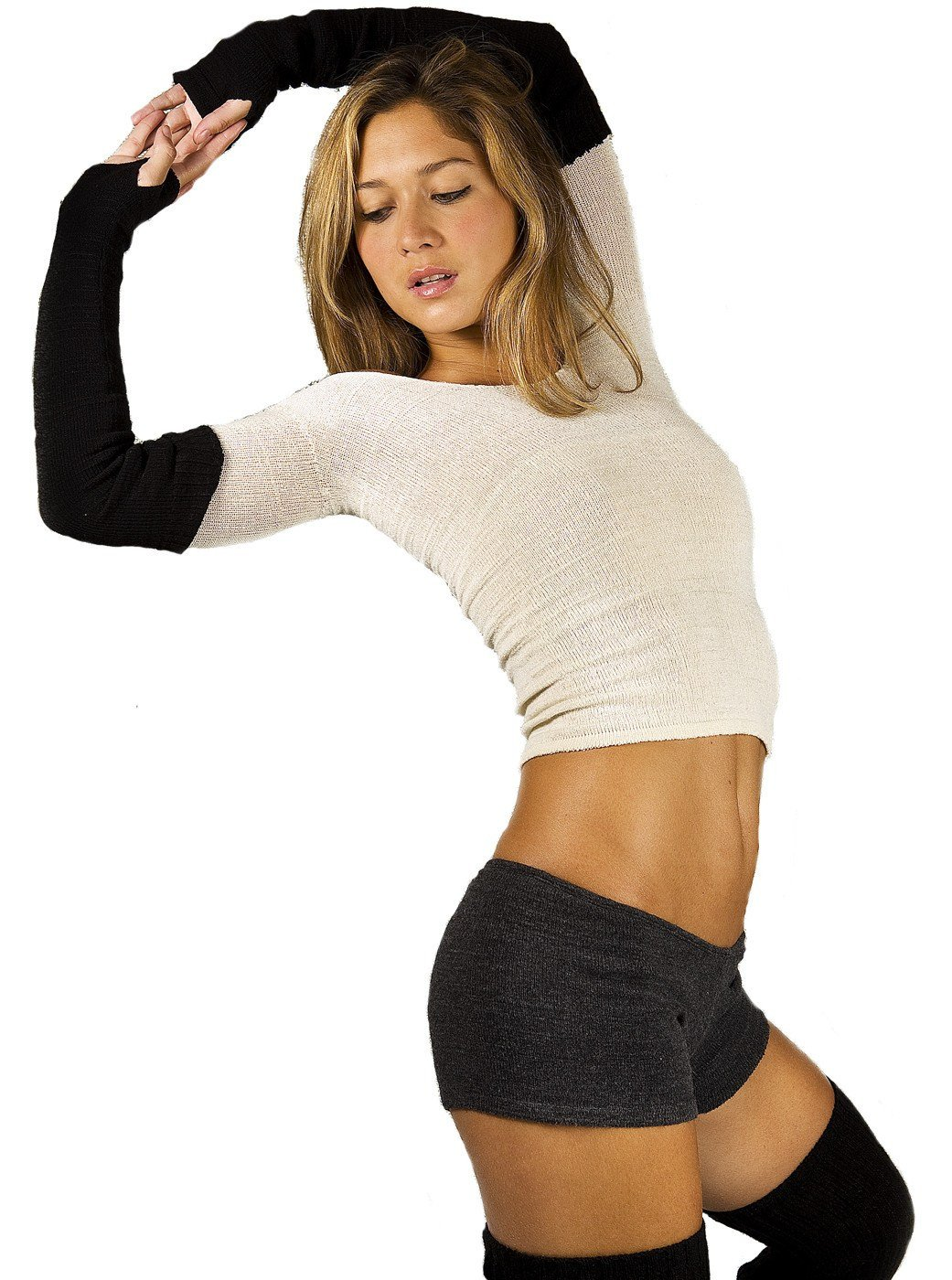 Yoga Shorts / Low Rise Stretch Knit @KDdanceNewYork #MadeInUSA - 3