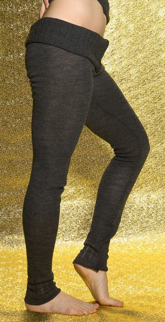 KD dance New York Soft, Luxurious Loose Knit  Roll Waist Tights with Drawstring Made In USA @KDdanceNewYork #MadeInUSA - 3