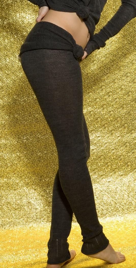 KD dance New York Soft, Luxurious Loose Knit  Roll Waist Tights with Drawstring Made In USA @KDdanceNewYork #MadeInUSA - 1