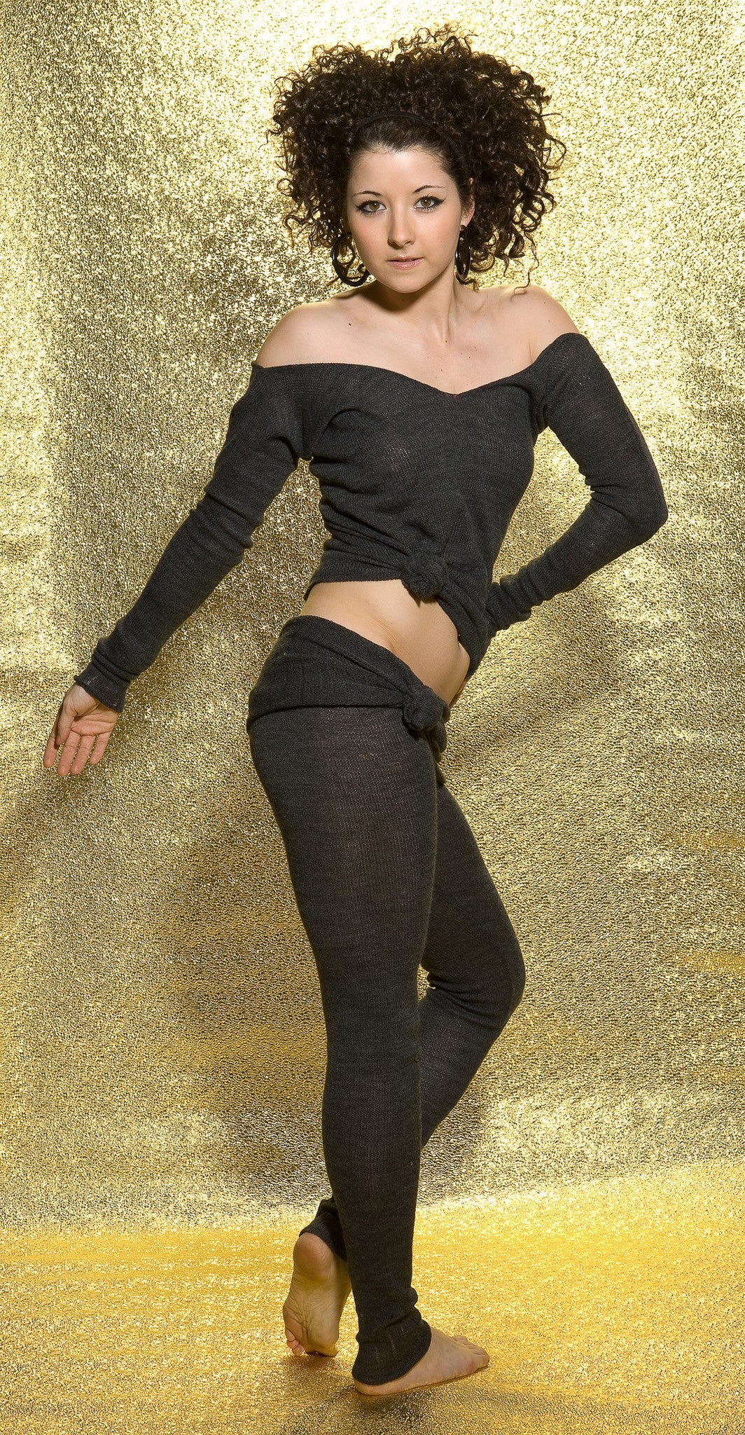 KD dance New York Soft, Luxurious Loose Knit  Roll Waist Tights with Drawstring Made In USA @KDdanceNewYork #MadeInUSA - 5