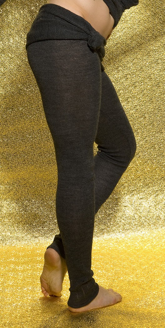 KD dance New York Soft, Luxurious Loose Knit  Roll Waist Tights with Drawstring Made In USA @KDdanceNewYork #MadeInUSA - 4
