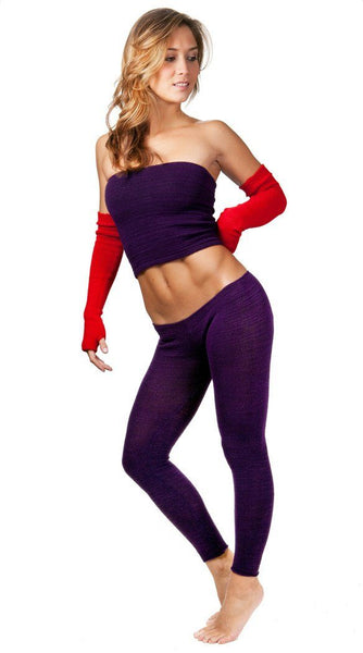 Yoga Tights / Dance Leggings / Unique Low Rise Knit Dancewear @KDdanceNewYork #MadeInUSA - 10