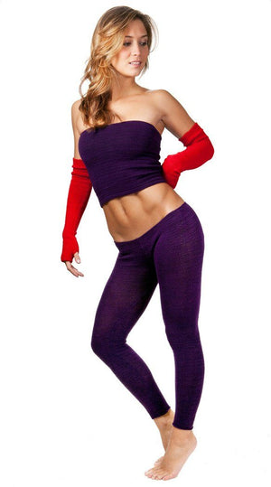 Low Rise Knit Yoga Tights @KDdanceNewYork #MadeInUSA - 3