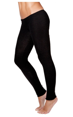 Petite / XS / New York Black Low Rise Knit Yoga Tights @KDdanceNewYork #MadeInUSA - 2