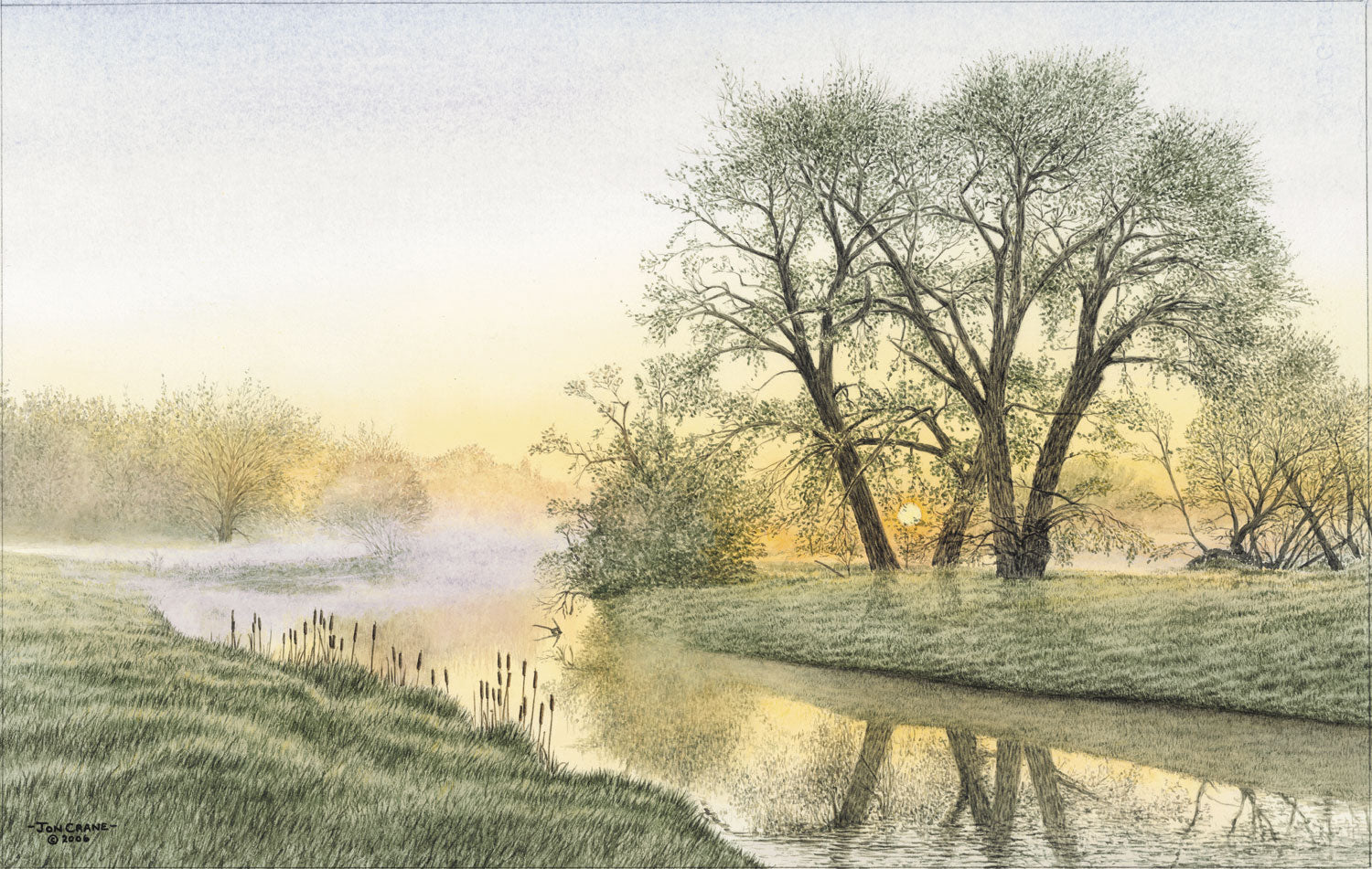 A BRILLIANT BEGINNING by Jon Crane -- Fine Art Watercolors