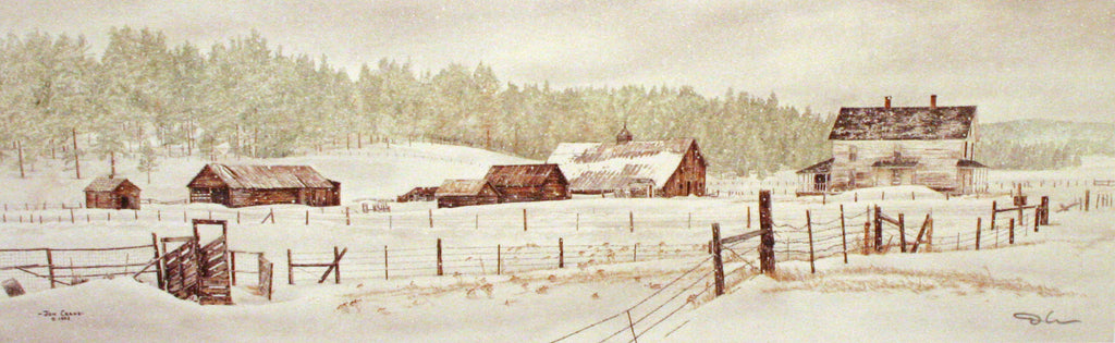 BULLDOG RANCH by Jon Crane -- Fine Art Watercolors