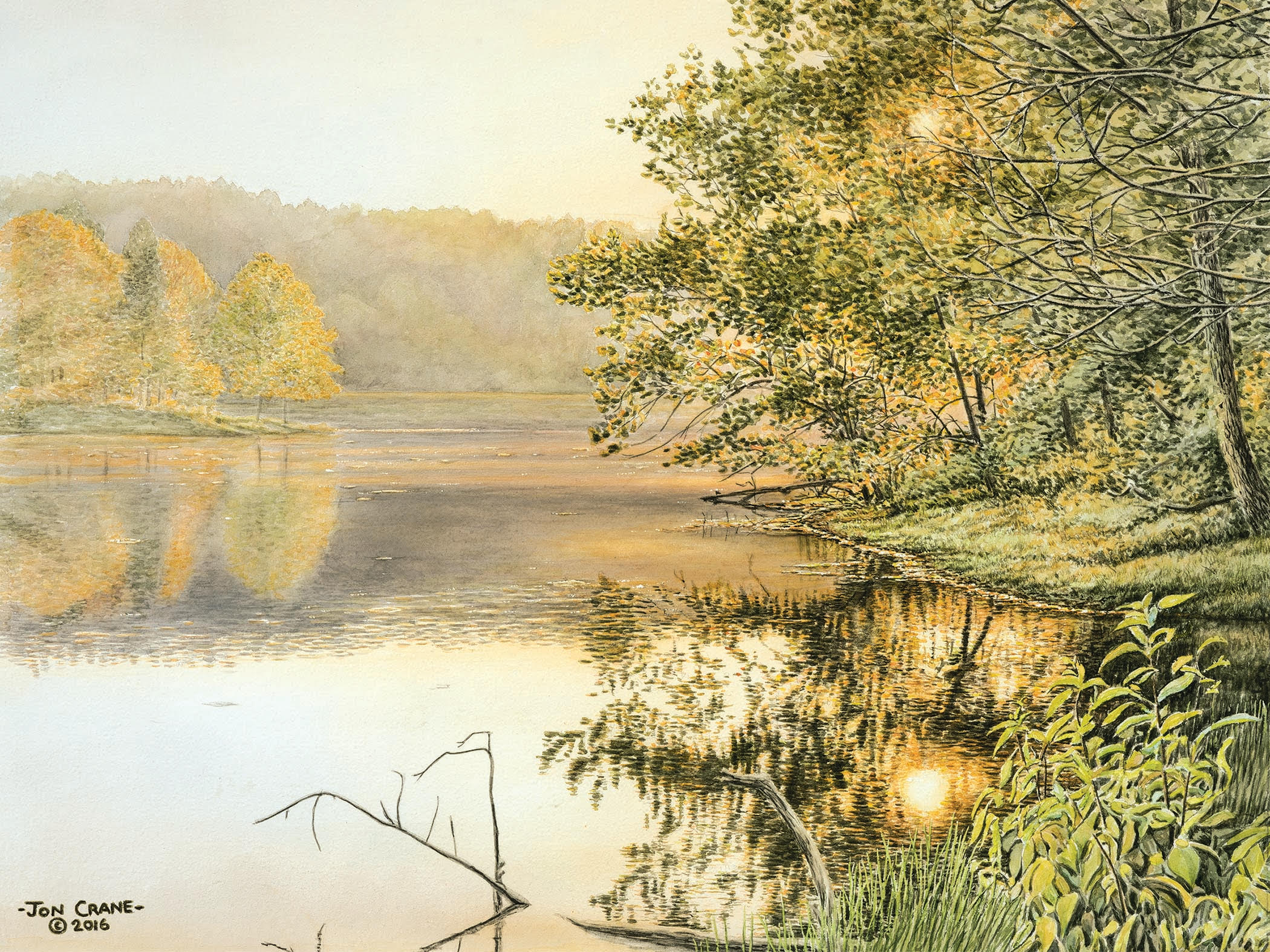 BREATHLESS EVENING LIGHT by Jon Crane -- Fine Art Watercolors