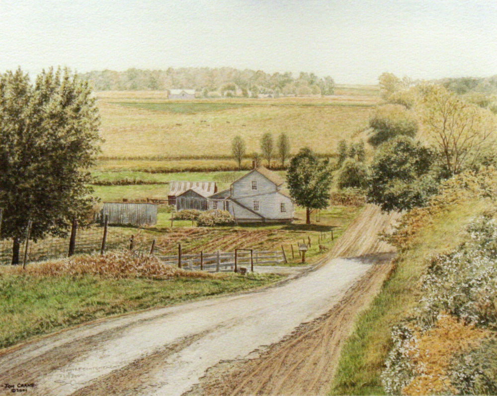 COUNTRY CONTENTMENT by Jon Crane -- Fine Art Watercolors