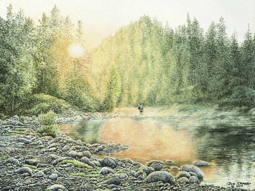 CATCHING THE LIGHT by Jon Crane -- Fine Art Watercolors