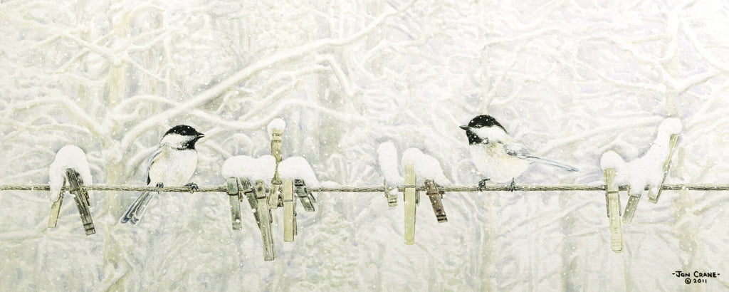 CHATTING ON LINE by Jon Crane -- Fine Art Watercolors
