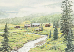 DUNTON HOT SPRINGS by Jon Crane -- Fine Art Watercolor