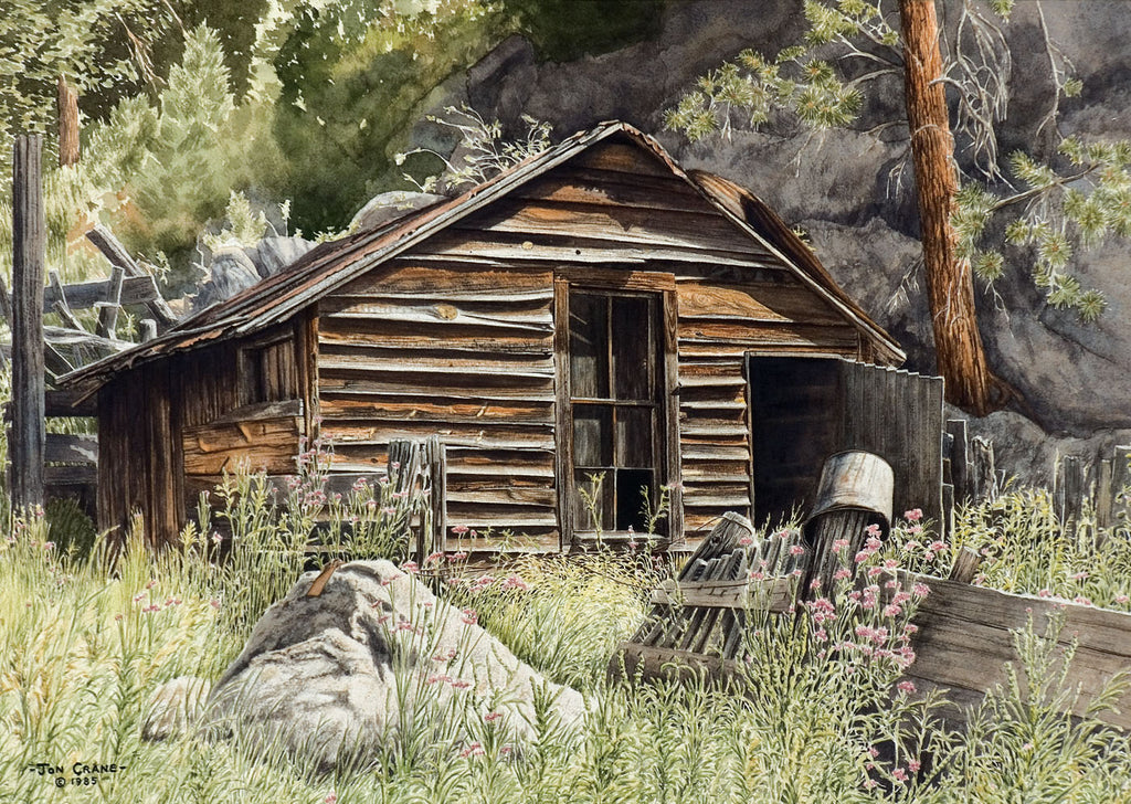 HUMBLE BEGINNINGS by Jon Crane -- Fine Art Watercolors