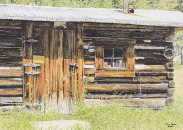 LINE SHACK by Jon Crane -- Fine Art Watercolors