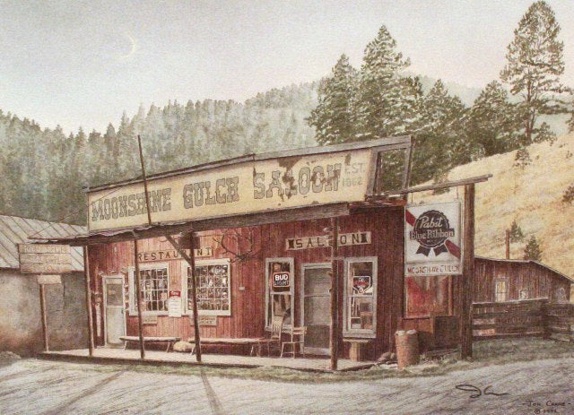 MOONSHINE GULCH SALOON by Jon Crane -- Fine Art Watercolors