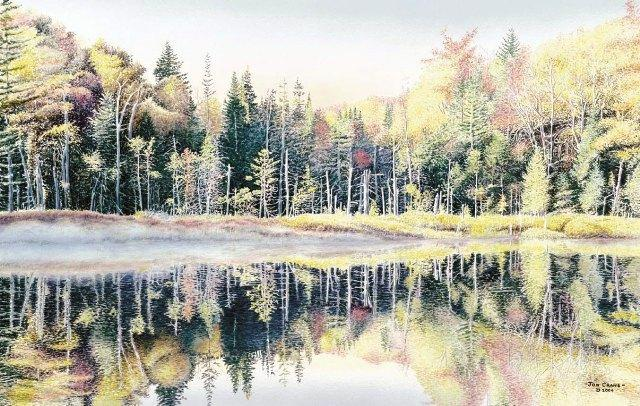 OTTER POND by Jon Crane -- Fine Art Watercolors