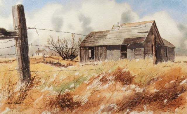 PRAIRIE HOME by Jon Crane -- Fine Art Watercolors