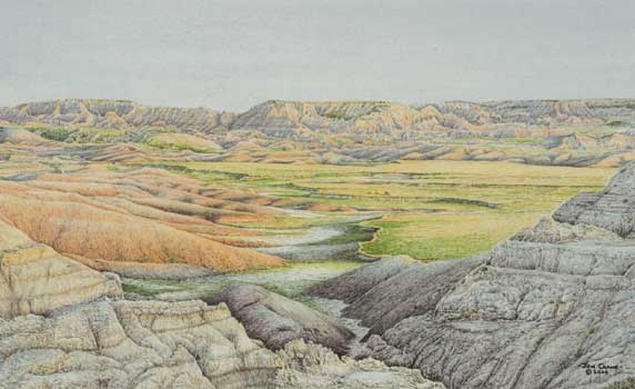 PRIME TIME - SAGE CREEK BASIN by Jon Crane -- Fine Art Watercolors