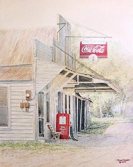 RAY'S PLACE by Jon Crane -- Fine Art Watercolors