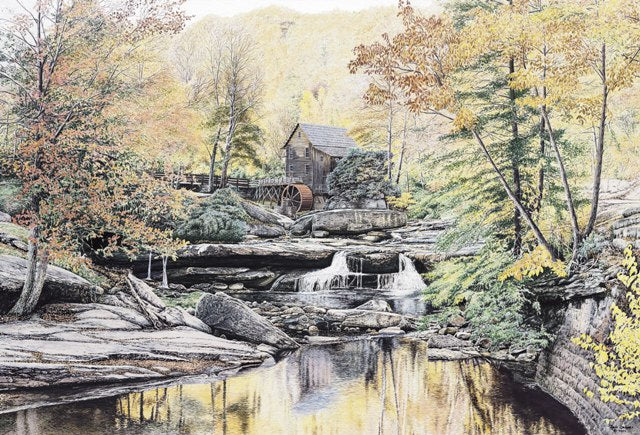 REFLECTIONS OF FALL by Jon Crane -- Fine Art Watercolors
