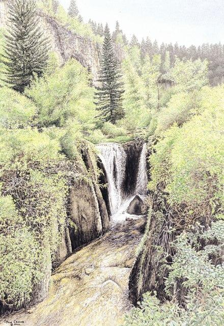 ROUGHLOCK FALLS by Jon Crane -- Fine Art Watercolors