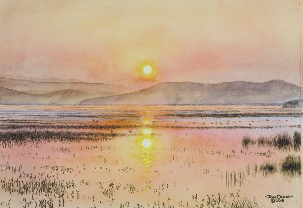 SUNRISE by Jon Crane -- Fine Art Watercolors
