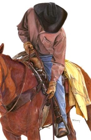 RIDE TO RATON by JK Dooley---Cowboy Art/Watercolor/Original