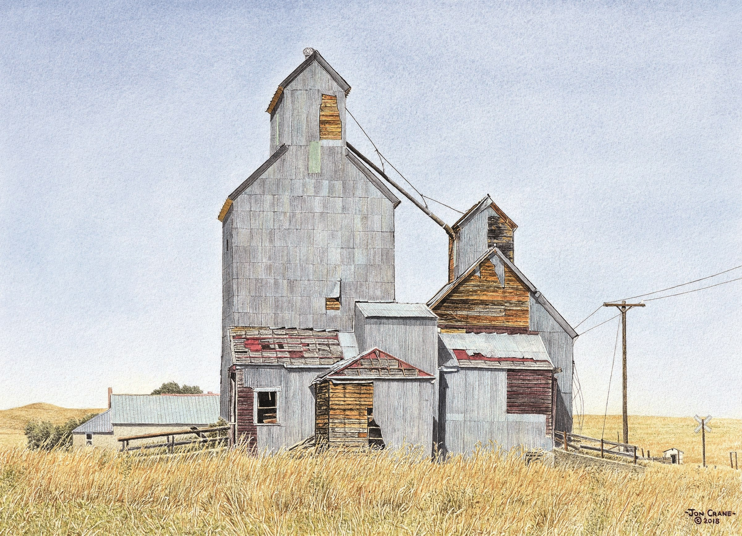 RISING FROM THE PLAINS by Jon Crane -- Fine Art Watercolors