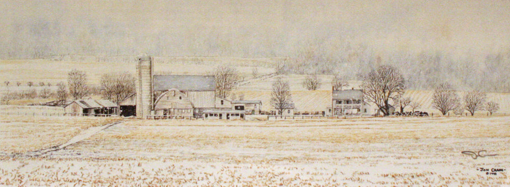 SNOWY MONDAY by Jon Crane -- Fine Art Watercolors