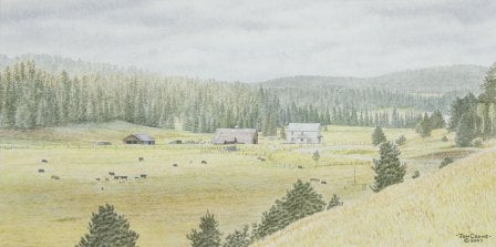 SUMMER MEADOWS by Jon Crane -- Fine Art Watercolors